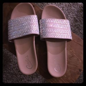 Candie's embellished slides, new without box!
